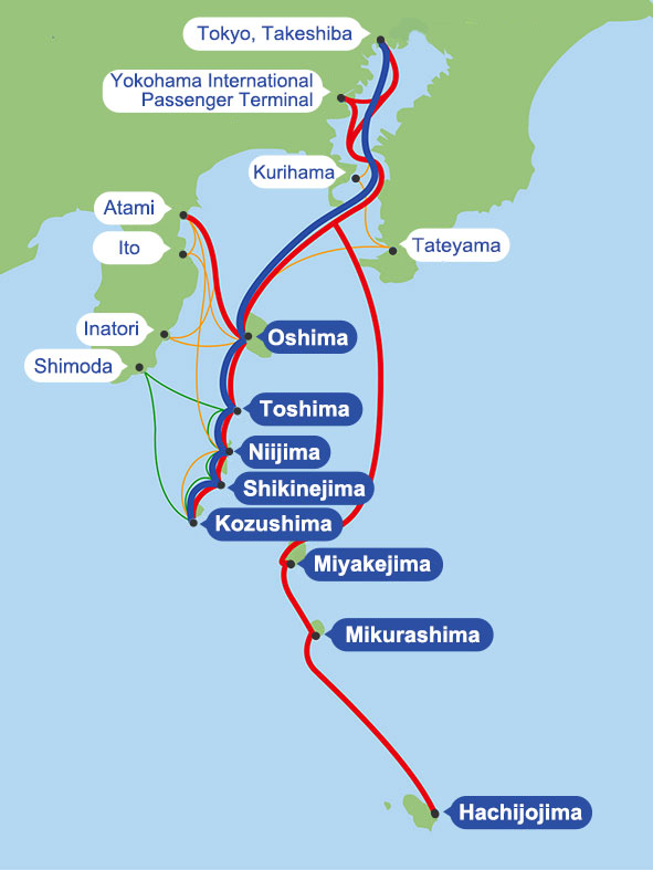 Route Map   Tokai Kisen Co., Ltd.   Travel and Tours to the ... on map explorer, map police, map zoom,