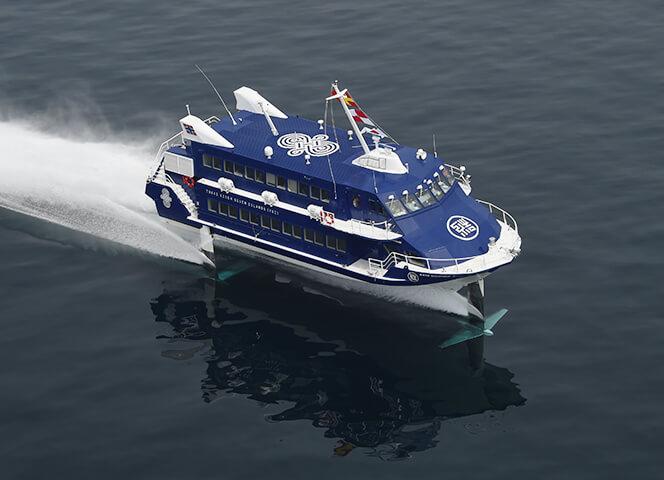 ジェット船で行く伊豆諸島|大島・利島・新島・式根島・神津島へ|東海汽船